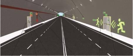 Rettungszeichen für Tunnel