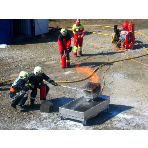 Feuerlöschertraining Modul 3 Theorie/Praxis Basisausbildung 30 Personen