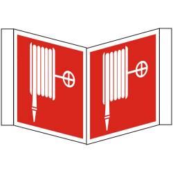 Brandschutzzeichen Winkelschild Nasslöschposten BGV