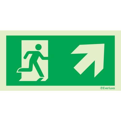 rechts aufwärts - Flucht- und Rettungszeichen