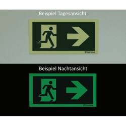 Rettungszeichen nach rechts ISO 7010