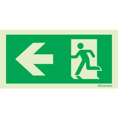 nach links - Flucht- und Rettungszeichen