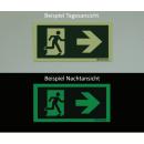 Etagenwechsel abwärts - Flucht- und Rettungszeichen