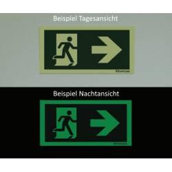 Winkelschild Laufrichtung links/rechts Deckenmontage - Flucht- und Rettungszeichen