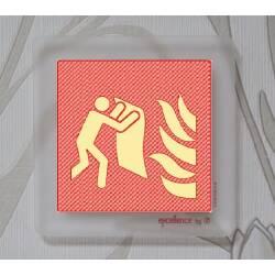Brandschutzschild Löschdecke auf Acryl durchsichtig...