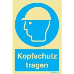 Gebotszeichen Kopfschutz tragen SN EN ISO 7010
