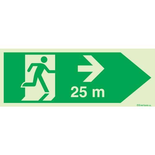 Flucht - und Rettungszeichen für Tunnel