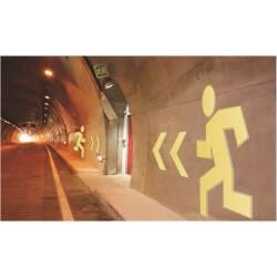 Rettungszeichen Tunnel Notausgänge