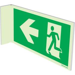 Rettungszeichen Doppelseitig Wandmontage rechts-links