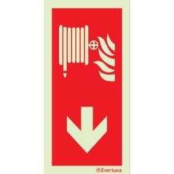 Brandschutzzeichen Löschschlauch mit Pfeil
