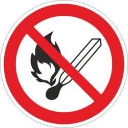 Verbotszeichen -Feuer, offenes Licht u. Rauchen verboten...