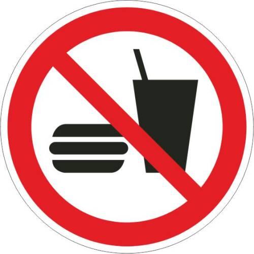 Verbotszeichen - Essen und Trinken verboten ISO 7010