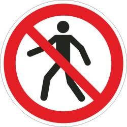 Verbotszeichen - Für Fussgänger verboten ISO 7010
