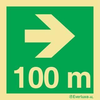 Nach rechts 100 Meter