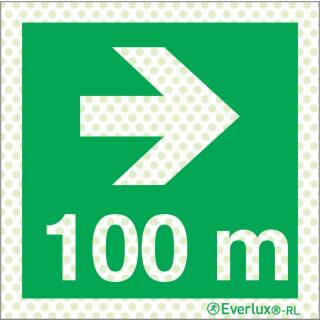 Rechts 100 Meter